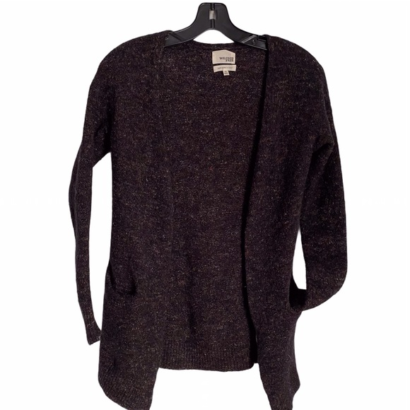 WILFRED FREE NUBBY KNIT CARDIGAN SWEATER